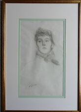 FAIRLIE HARMAR (VISCOUNTESS HARBERTON) 1876-1945 ORIGINAL SIGNED PORTRAIT