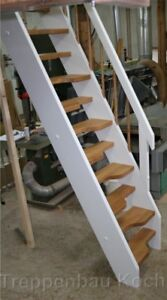 Raumspartreppe, gerade Treppe, Holztreppe, Bodentreppe