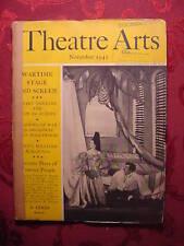 THEATRE ARTS November 1942 EMLYN WILLIAMS LYNN FONTANNE