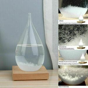 Crystal Storm Glass Globe Weather Forecast Bottle Storm Gift New - No base