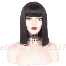 Womens' Short Straight Bob Wig with Bangs Shoulder Length Synthetic Wig Cosplay