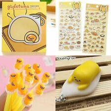 More details for 5 x gudetama lazy egg stickers sanrio memo pads super cute pen keyring squishy
