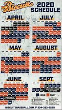 2020 MONTGOMERY BISCUITS MAGNETIC SCHEDULE  - SEASON POSTPONED HARD TO GET NOW