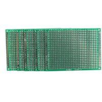 5x 6x8cm Lochrasterplatte Leiterplatte Streifenraster Platine PCB Board Gruen D2