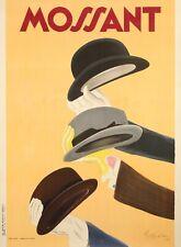 Original Vintage Poster - L. Cappiello - Chapeau Mossant - Hat - Gloves - 1938