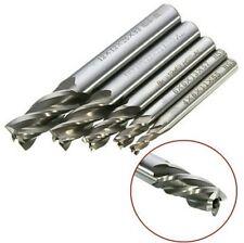 Drillpro DB-M2 5pcs 4/6/8/10/12mm 4 Flute End Mill Cutter HSS Straight Shank Dri