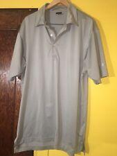 Dunning Short Men's Short Sleeve S/S Polo Golf Shirt Size Large L Gray