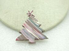 Cookie Cutter Style, Glitter Sheen/Molded Hand Made Christmas Tree Brooch,