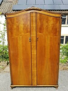 A Vintage 1940's/50's Double Wardrobe by Maple & Co Needs some TLC