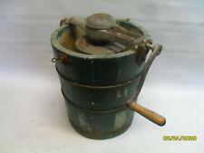 Vintage White Mountain Ice Cream Maker with Wood Tub (0224-11)