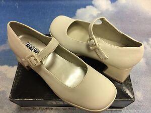 Rachel Beige Buckle Platform Heel Mary Janes Kid Size 1.5 - 5 /Women 5.5 to 7