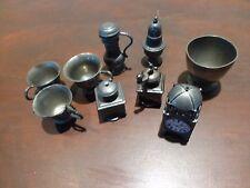 Superb Lot of vintage pewter miniature kitchen metalware [Y7-W6-A8]