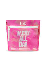 VICTORIAS SECRET PINK VACAY ALL DAY COSMETIC BEAUTY TRAVEL BAG CASE NWT