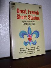 Great French Short Stories by Germaine Bree (Dell #LC149,2'nd Print:Mar. 1962,PB