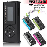 USB Mini Clip MP3 Player LCD Screen Digital Music Media 16GB Micro SD TF Card UK