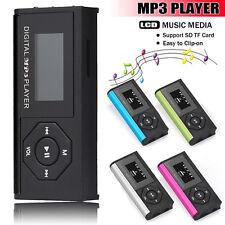 USB Mini Clip MP3 Player LCD Screen Digital Music Media 16GB Micro SD TF Card UK