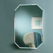 Beveled Mirror Recessed Wall Medicine Cabinet Home Bathroom Furniture Storage