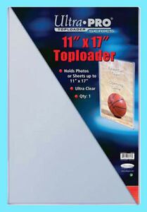 1 ULTRA PRO 11x17 TOPLOADER NEW Photo Collectible Rigid Document Art Poster