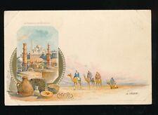 Egypt CAIRO Le Desert Camels  u/b chromolitho PPC