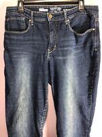 Levi's Size 16 Jeans Denim Slim Straight Curvy Mid Rise Dark Wash MA41