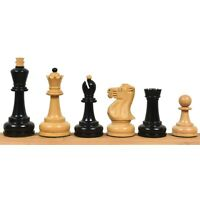 """3.7"""" Soviet Großmeister Supreme Chess Pieces only Set- Weighted Ebonised Boxwood"""