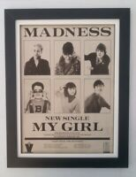 MADNESS*My Girl*1979*ORIGINAL*POSTER*AD*ADVERT*QUALITY*FRAMED*FAST WORLD SHIP