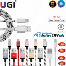 1M 2M 3M USB For IOS Charger Cable Cord Data for iPhone 6/7/8/11 iPad iPod Air 3