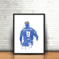 Paul Gascoigne Gazza - Rangers Inspired Football Art Print Design Gers Number 8