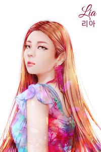 ITZY LIA 4x6 Mafia in the Morning Guess Who photo Yuna Ryujin Drawing Kpop Art