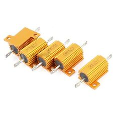 1Pcs  Gold Tone 25W 8 Ohm Wirewound Aluminium Housing Power Resistance Resistor