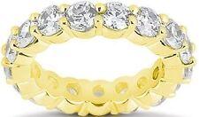 4.23 ct Round Diamond 18K Yellow Gold Eternity Band Sz 6 Ring Vs/Si1 17 x .25 ct