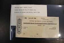 1954 Barclays Bank - Haifa, Isreal Socony Vacuum Oil Co. of Israel Ltd
