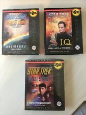 Lot Of 3 Star Trek & Star Trek TNG audiobooks - All 3 on 3 CD's Great Condition