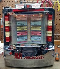 AMI WALLBOX JUKEBOX MODEL WQ-200-3 RESTORED and RECHROMED - STOCK #5554
