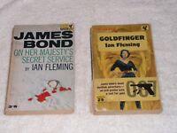 "JAMES BOND,  2 PAN PAPERBACKS, ""GOLDFINGER"" 4TH  1962, ""OHMSS"" 4TH PRINT 1962"