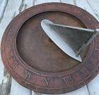 "Cast Iron Sundial  Sailboat J7 The Mariner's Sundial Roman Numerals-12"" Dia."