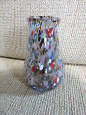 Signed studio art glass Confetti bud vase