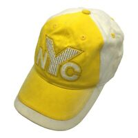 Paxko NYC New York Yellow White Hat Adjustable Strap Back Cap