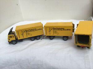 SIKU 1/55 Volvo Truck & 2 Trailers  GERMAN POST