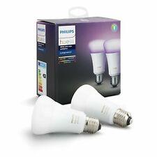 PHILIPS HUE Hue White & Colour Ambiance LED Bulb E27 Twin Pack