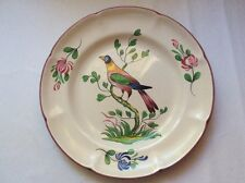 Plate Vintage Colorful Bird in Tree Hand Painted Faience Plate c1976