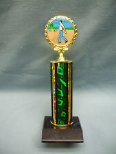 Horseshoe Award male trophy full color insert green column