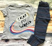 Gymboree 5 6 Outfit Creative Types Color My World Paint Top Striped Leggings NWT