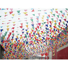 100Pc/String/38m Party Festive Wedding Flag Colorful Triangle Multi Color Banner