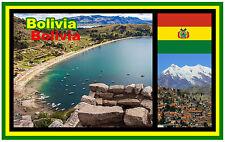 BOLIVIA (SOUTH AMERICA) - SOUVENIR NOVELTY FRIDGE MAGNET - BRAND NEW - GIFT