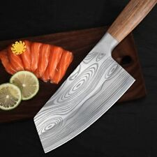 Stainless Steel Asian Chef Knife Kitchen Butcher Damascus Meat Cleaver Carbon