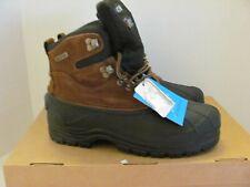 KINGSHOW Men's Waterproof  Genuine Leather Work Boots Size 8