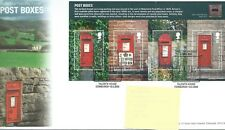 GB - FIRST DAY COVER - FDC - MINI SHEET -2009- POST BOXES - Pmk TH