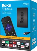 Roku® Express HD Streaming Media Player (2019) (Black) Alexa Google Assistant