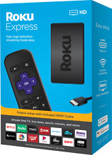 Roku® Express HD Streaming Media Player (2019) (Black) Alexa Google Assistant